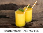 mango smoothies juice and ripe...   Shutterstock . vector #788759116