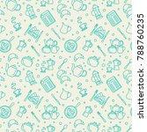breakfast thin line vector... | Shutterstock .eps vector #788760235
