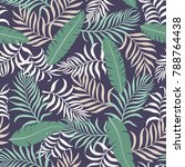 tropical background with palm... | Shutterstock .eps vector #788764438