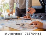 business hand pointing at... | Shutterstock . vector #788764465