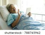 elderly patients in hospital...   Shutterstock . vector #788765962