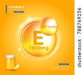 vitamin e gold shining pill... | Shutterstock .eps vector #788769256