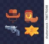 wild west elements set. cowboy...