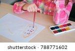 art drawing inks child hobby...   Shutterstock . vector #788771602
