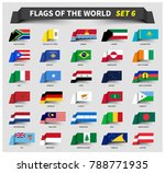all flags of the world set 6 .... | Shutterstock .eps vector #788771935