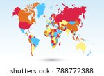 color world map vector   Shutterstock .eps vector #788772388