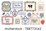 valentines day set. frames....   Shutterstock .eps vector #788773162