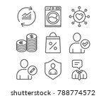 set of currency  edit user and... | Shutterstock .eps vector #788774572