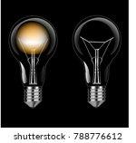 illuminated and not illuminated ...   Shutterstock .eps vector #788776612