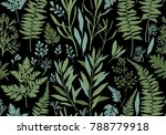 botanical hand drawn... | Shutterstock .eps vector #788779918