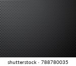 black metal perforated... | Shutterstock .eps vector #788780035