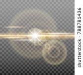 shining golden sun with glowing ...   Shutterstock .eps vector #788781436