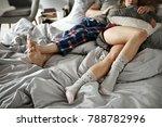unrecognizable couple sleeping... | Shutterstock . vector #788782996