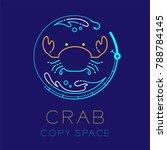 crab  fishing rod circle shape  ... | Shutterstock .eps vector #788784145