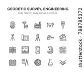 geodetic survey engineering... | Shutterstock .eps vector #788785372