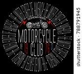 vintage motorcycle t shirt... | Shutterstock .eps vector #788791945