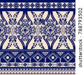 monochrome floral seamless... | Shutterstock . vector #788793502