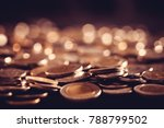 close up money coin on the... | Shutterstock . vector #788799502