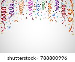 colorful confetti on white... | Shutterstock . vector #788800996