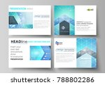 set of business templates for... | Shutterstock .eps vector #788802286