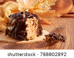 dessert of chocolate dough and... | Shutterstock . vector #788802892