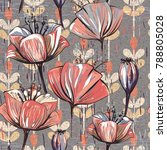 seamless pattern with... | Shutterstock . vector #788805028