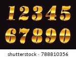 gold numbers set.vector golden...   Shutterstock .eps vector #788810356
