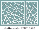 set decorative card for cutting.... | Shutterstock .eps vector #788813542