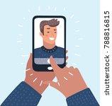 vector cartoon illustration of... | Shutterstock .eps vector #788816815