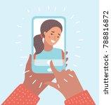 vector cartoon illustration of... | Shutterstock .eps vector #788816872