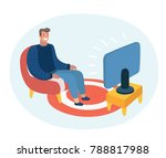 vector cartoon illustration of... | Shutterstock .eps vector #788817988
