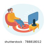 vector cartoon illustration of... | Shutterstock .eps vector #788818012