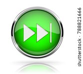 green round media button. fast... | Shutterstock .eps vector #788821666