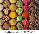 colored spice background.... | Shutterstock . vector #788823652