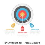 target with three arrows  three ... | Shutterstock .eps vector #788825095