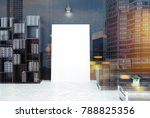 black living room interior with ... | Shutterstock . vector #788825356