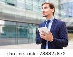 happy  male testing digital... | Shutterstock . vector #788825872