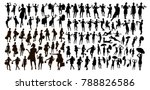 black people isolated... | Shutterstock .eps vector #788826586