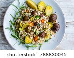 chestnut salad with pearl... | Shutterstock . vector #788830045
