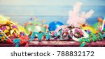 colourful carnival panoramic... | Shutterstock . vector #788832172