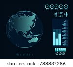 world map with different...   Shutterstock .eps vector #788832286