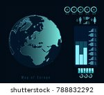 world map with different...   Shutterstock .eps vector #788832292