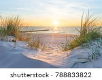 Stock photo sunset at the baltic sea beach 788833822