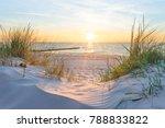 sunset at the baltic sea beach | Shutterstock . vector #788833822