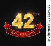 anniversary  anniversary  forty ... | Shutterstock .eps vector #788834782