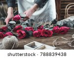 florist shop with workplace on... | Shutterstock . vector #788839438