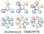 vector circle elements with... | Shutterstock .eps vector #788839978