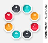 vector octagon for infographic. ... | Shutterstock .eps vector #788840002
