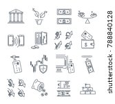 set of thin line icons business ...   Shutterstock .eps vector #788840128