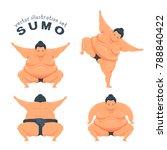 funny sumo wrestler. vector... | Shutterstock .eps vector #788840422